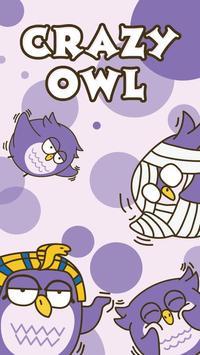 GO Keyboard Sticker Crazy Owl poster