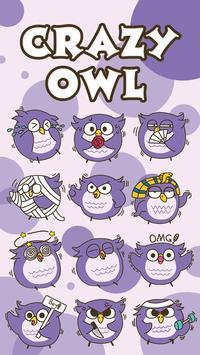 GO Keyboard Sticker Crazy Owl apk screenshot