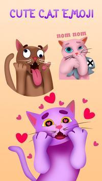 GO Keyboard Sticker Cute Cat Emoji poster