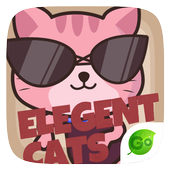 GO Keyboard Sticker Elegant Cats icon