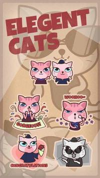 GO Keyboard Sticker Elegant Cats poster