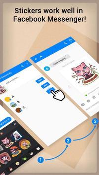 GO Keyboard Sticker Elegant Cats apk screenshot