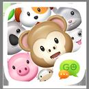 GO Keyboard Sticker 3D animals APK