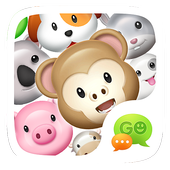 GO Keyboard Sticker 3D animals иконка