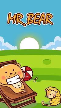GO Keyboard Mr.Bear Sticker poster