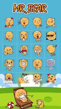GO Keyboard Mr.Bear Sticker apk screenshot