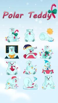 GOKeyboard Polar Teddy Sticker apk screenshot
