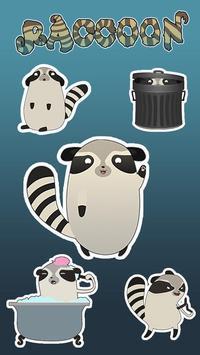 GO Keyboard Sticker Raccoon poster