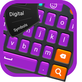 Big buttons keyboard icon