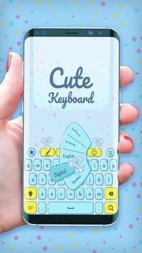 Cute keyboard theme poster