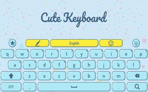 Cute keyboard theme apk screenshot