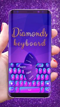 Luxury diamonds glitter keyboard poster