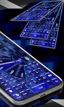 Blue Keyboard poster