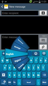 Blue Keyboard for Smartphone poster