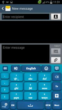 Blue Keyboard for Smartphone apk screenshot