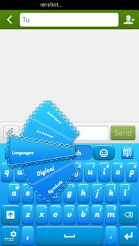 Blue Plastic Keyboard poster