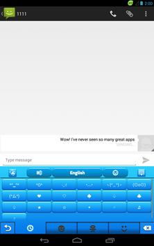 Blue Plastic Keyboard apk screenshot