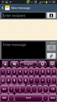 Dark Plum Keyboard apk screenshot