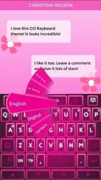 Keyboard Pink Glow poster