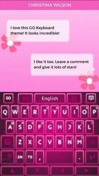 Keyboard Pink Glow apk screenshot