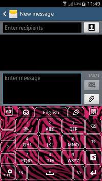Pink Zebra Keyboard apk screenshot