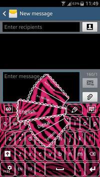 Pink Zebra Keyboard poster