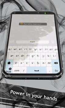 Pure White Keyboard apk screenshot