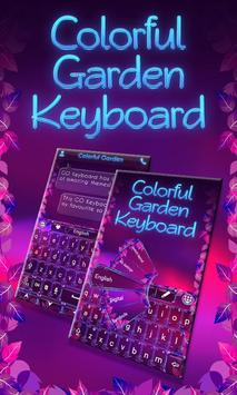 Colorful Garden Go Keyboard poster
