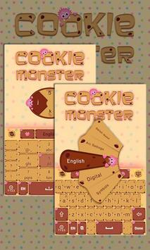 Cookie Monster Keyboard Theme poster