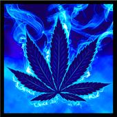 Blue Weed Rasta Keyboard icon