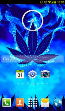 Blue Weed Rasta Keyboard apk screenshot