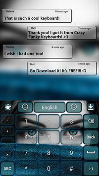 Sexy Blue Keyboard Theme apk screenshot