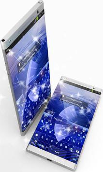 Blue Lines GO Keyboard apk screenshot