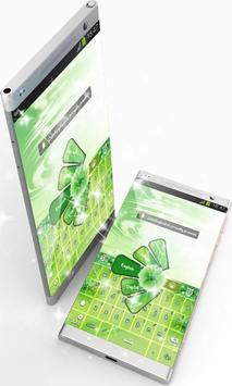 Green Colored GO Keyboard poster