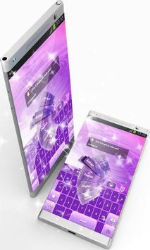 Pink And Purple GO Keyboard screenshot 3