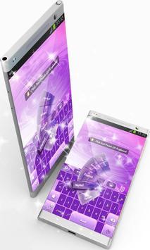 Pink And Purple GO Keyboard screenshot 1