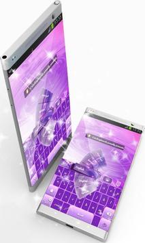 Pink And Purple GO Keyboard screenshot 4