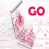 Pink Colored GO Keyboard icon
