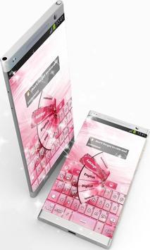 Pink Colored GO Keyboard screenshot 3