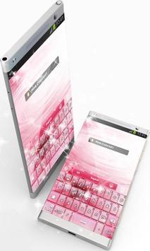 Pink Colored GO Keyboard screenshot 10