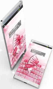 Pink Colored GO Keyboard screenshot 1