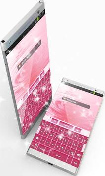 Pretty Pink GO Keyboard apk screenshot