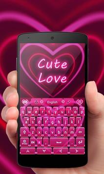 Cute Love GO Keyboard Theme poster