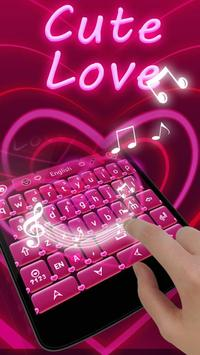 Cute Love GO Keyboard Theme apk screenshot