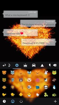 Love on Fire Theme apk screenshot