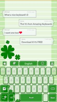 St. Patrick's Day Keyboard poster