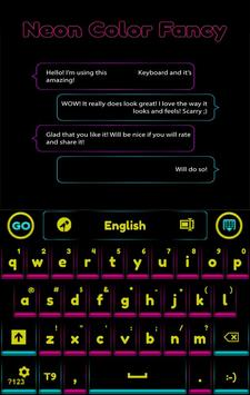 GO Keyboard Neon Color Fancy apk screenshot