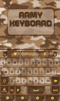 Army GO Keyboard Theme & Emoji poster
