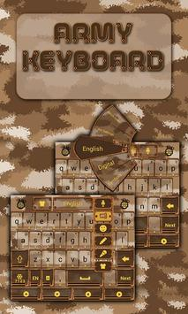 Army GO Keyboard Theme & Emoji apk screenshot
