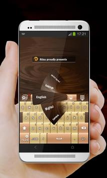 Chocolate Fields GO Keyboard apk screenshot